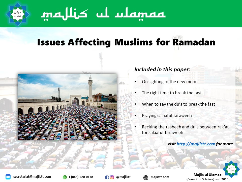 Issues Affecting Muslims in Ramadan